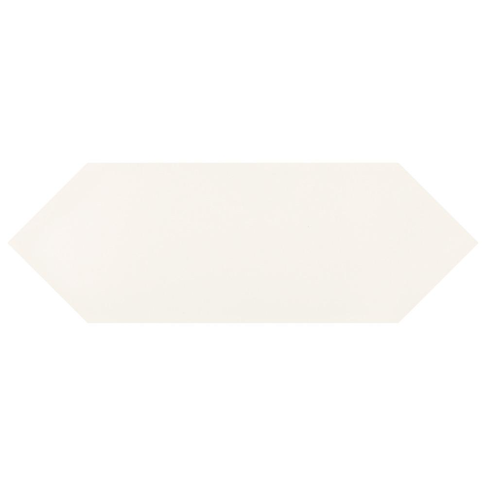 Merola Tile Kite White 4 in. x 11-3/4 in. Porcelain Subway Floor and Wall Tile (11.81 sq. ft. / case)