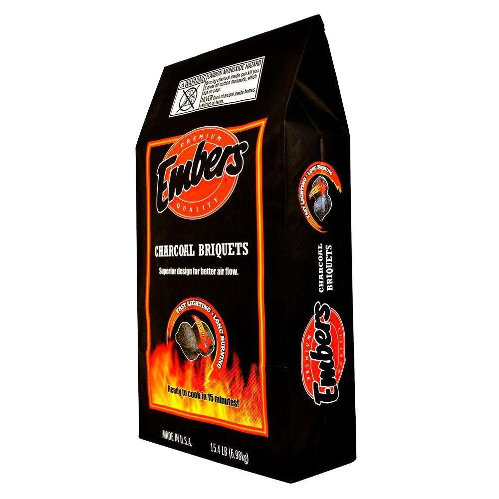 Embers Premium Quality Charcoal Briquettes 15 4 Lb Bag