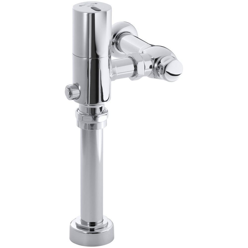 WAVE Toilet 1.28 GPF Flushometer Flush Valve in Polished Chrome