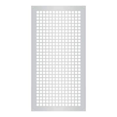 Square Series 30 in. x 14 in. Steel Grille, Gray with Mounting Holes