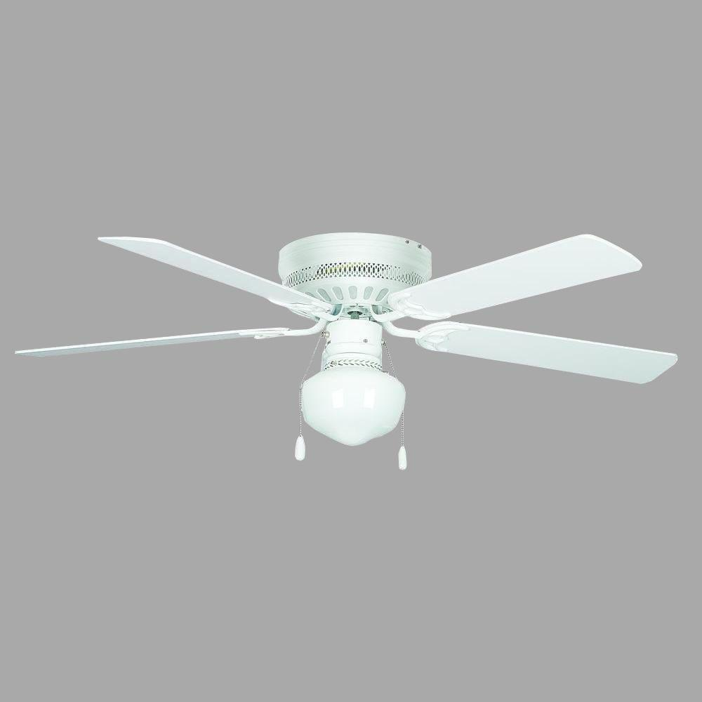 Concord Fans Hugger Schoolhouse Series 42 In Indoor White Ceiling Fan 42hug4wh Yg6 The Home Depot