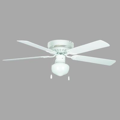 Hugger Schoolhouse Series 42 in. Indoor White Ceiling Fan