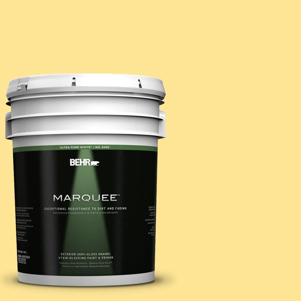 5-gal. #390B-4 Chilled Lemonade Semi-Gloss Enamel Exterior Paint