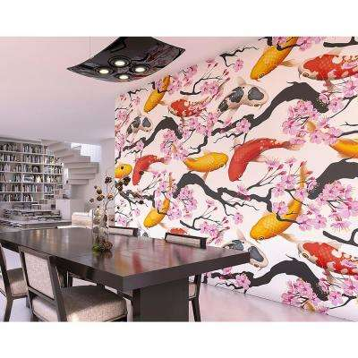 Blooming Koi Wall Mural