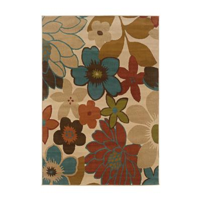 Frido Multi-Colored 8 ft. x 10 ft. Floral Indoor Area Rug