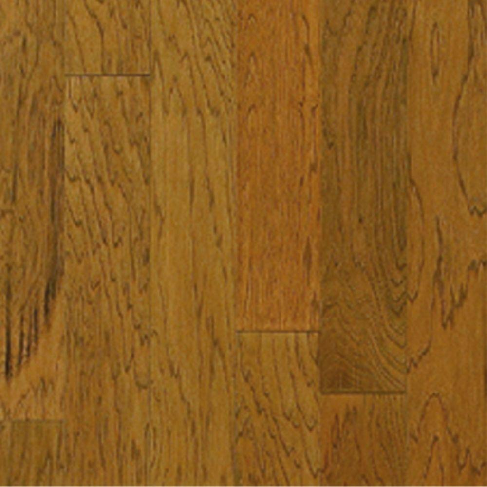 Millstead Take Home Sample Hickory Honey Engineered Click Hardwood Flooring 5 In. X 7 In.