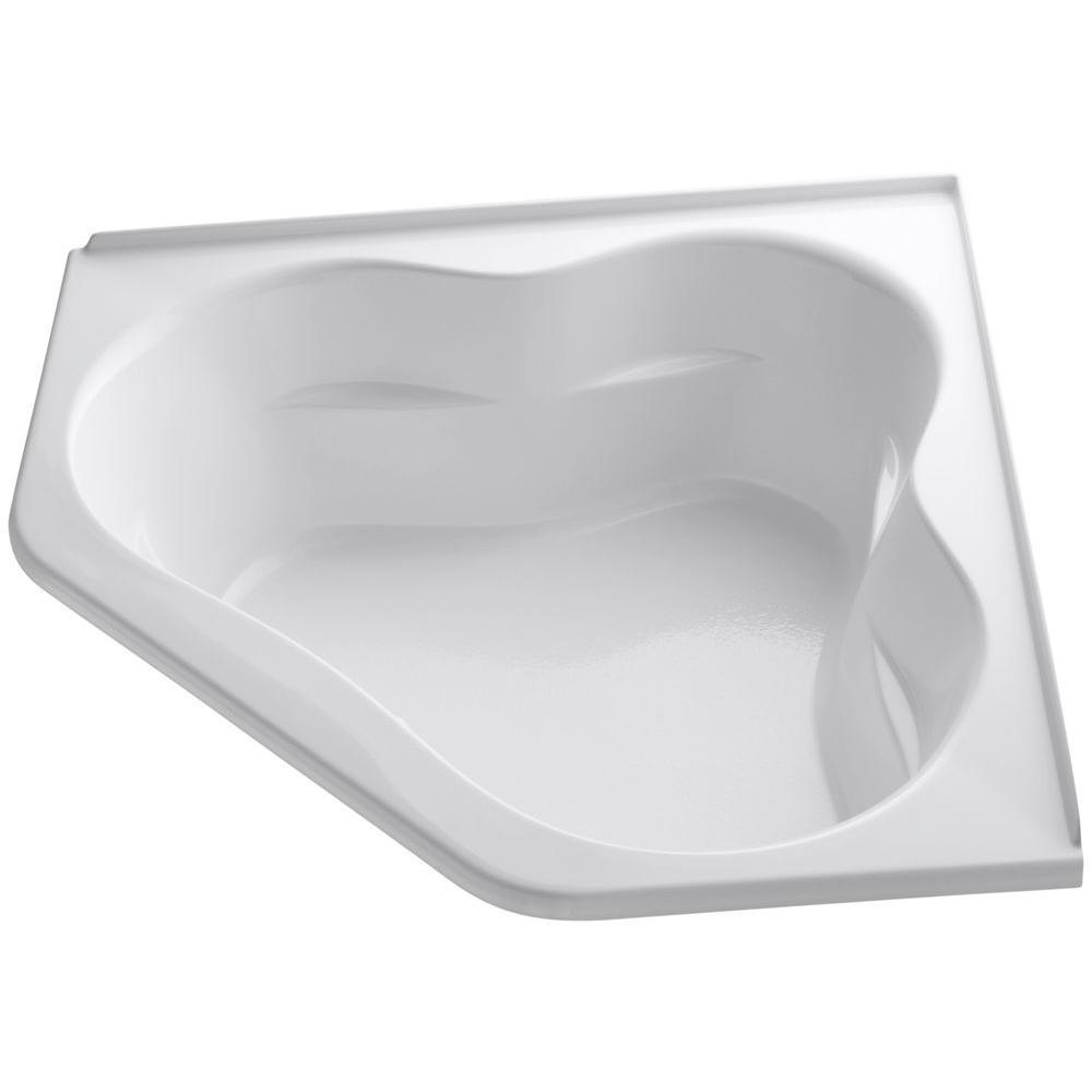 KOHLER Tercet 5 ft. Air Bath Tub in White-K-1160-GF-0 - The Home Depot