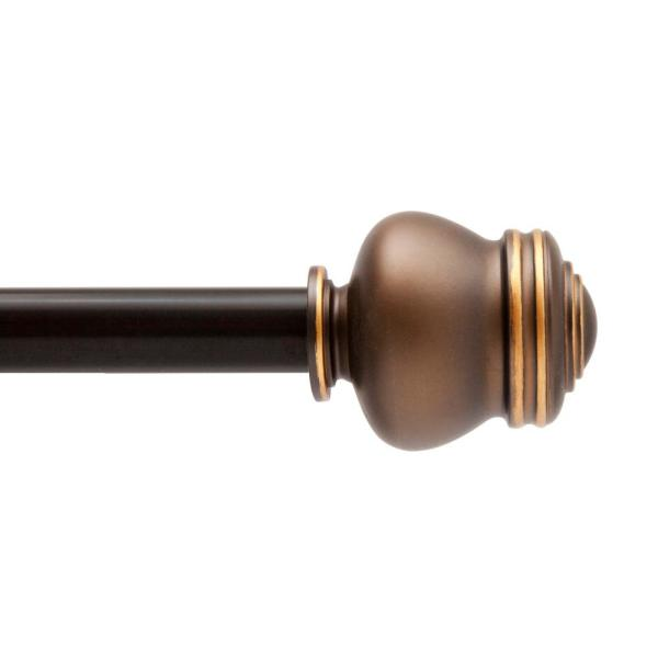 Glendale 28 in. - 48 in. Adjustable 5/8 in. Standard Decorative Window Single Curtain Rod in Oil Rubbed Bronze