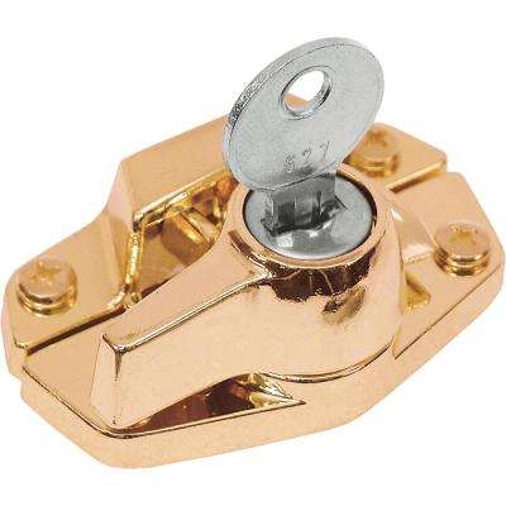 Brass-Plated Keyed Window Sash Lock