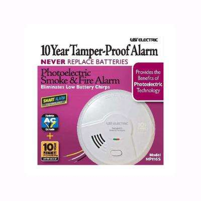 10 Year Sealed Battery Backup, Hardwired, Photoelectric Smoke And Fire Detector, Microprocessor Intelligence