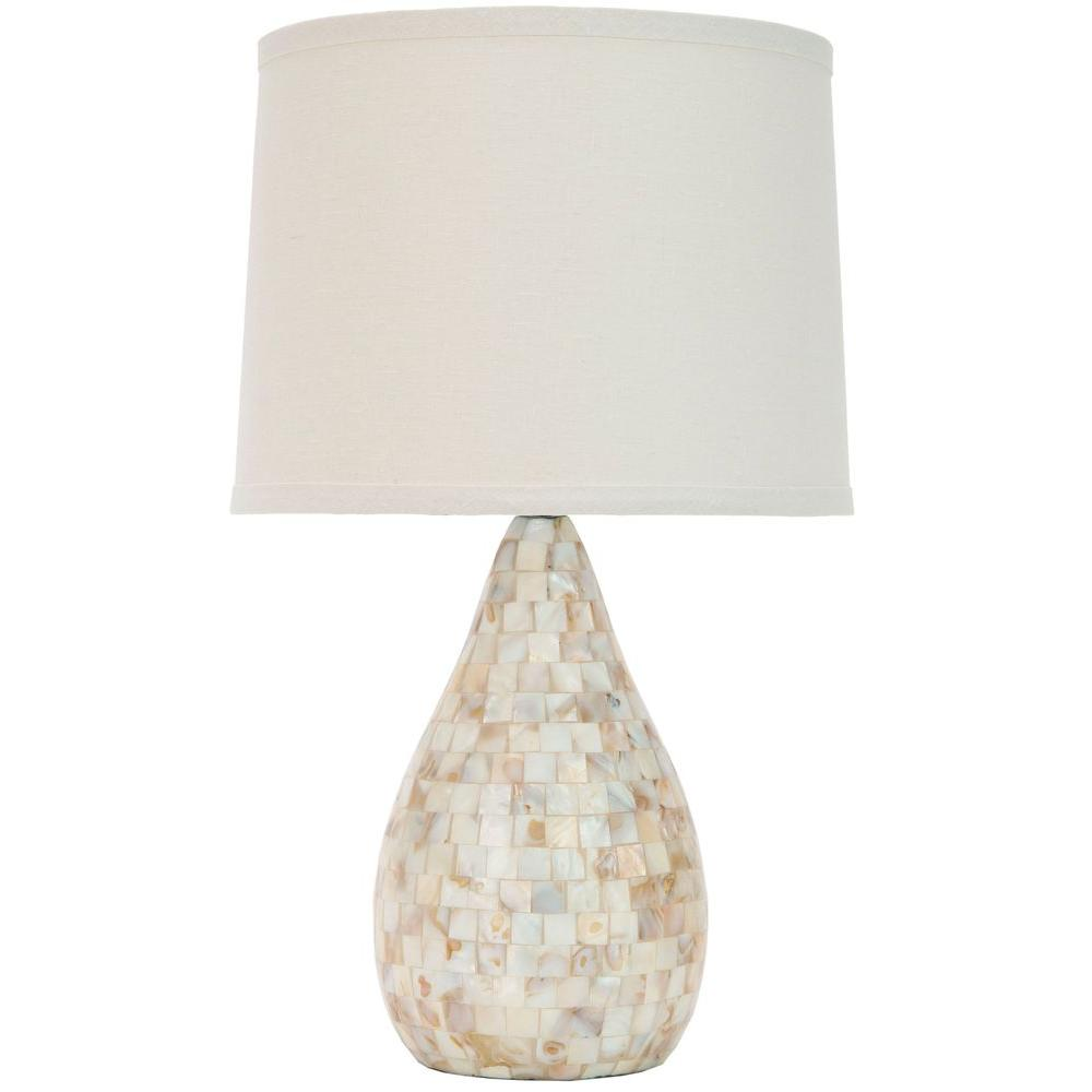 Safavieh lauralie 205 in cream capiz shell table lamp with off cream capiz shell table lamp with off white shade aloadofball