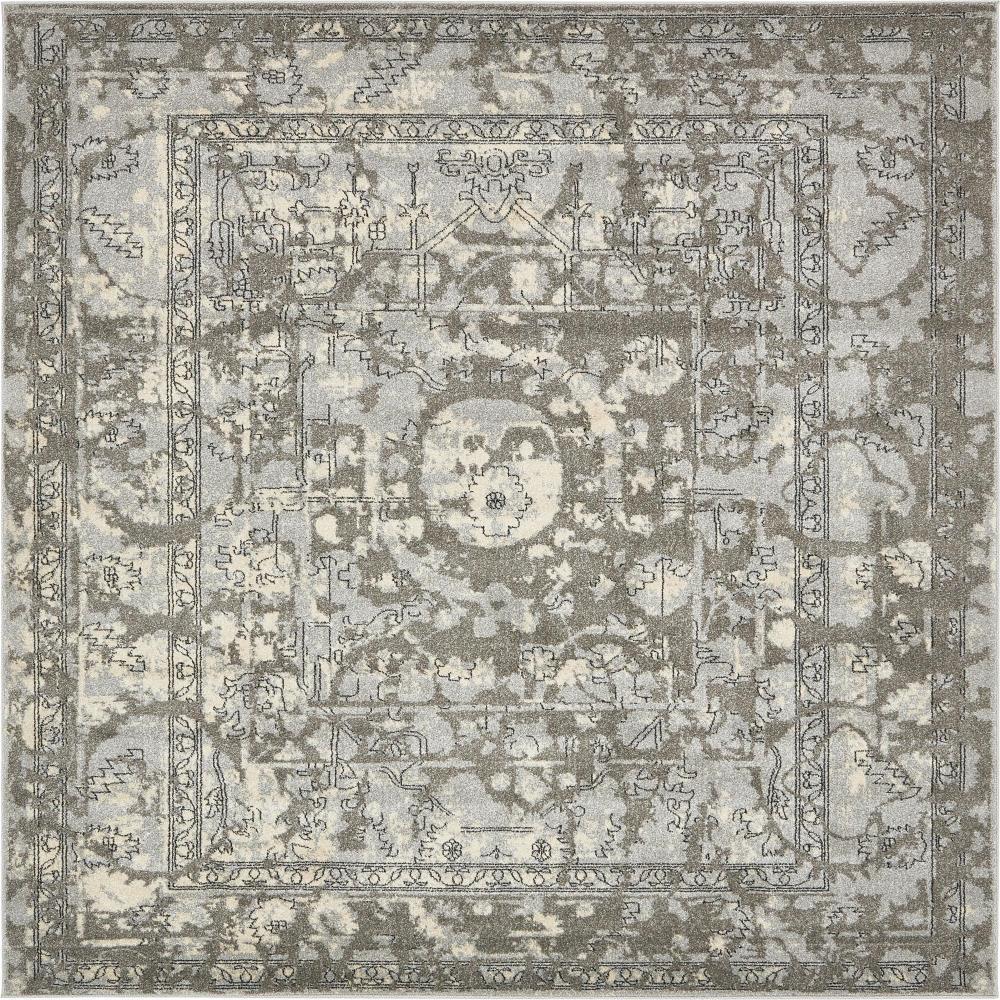 La Jolla Vintage Gray 8' 0 x 8' 0 Square Rug