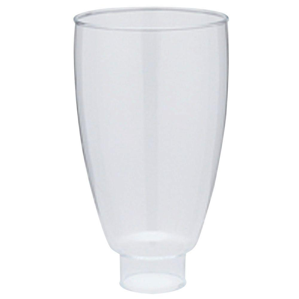 Westinghouse 6-1/2 in. Handblown Clear Williamsburg-Style Shade with 1-5/8 in. Fitter and 3-3/4 in. Width