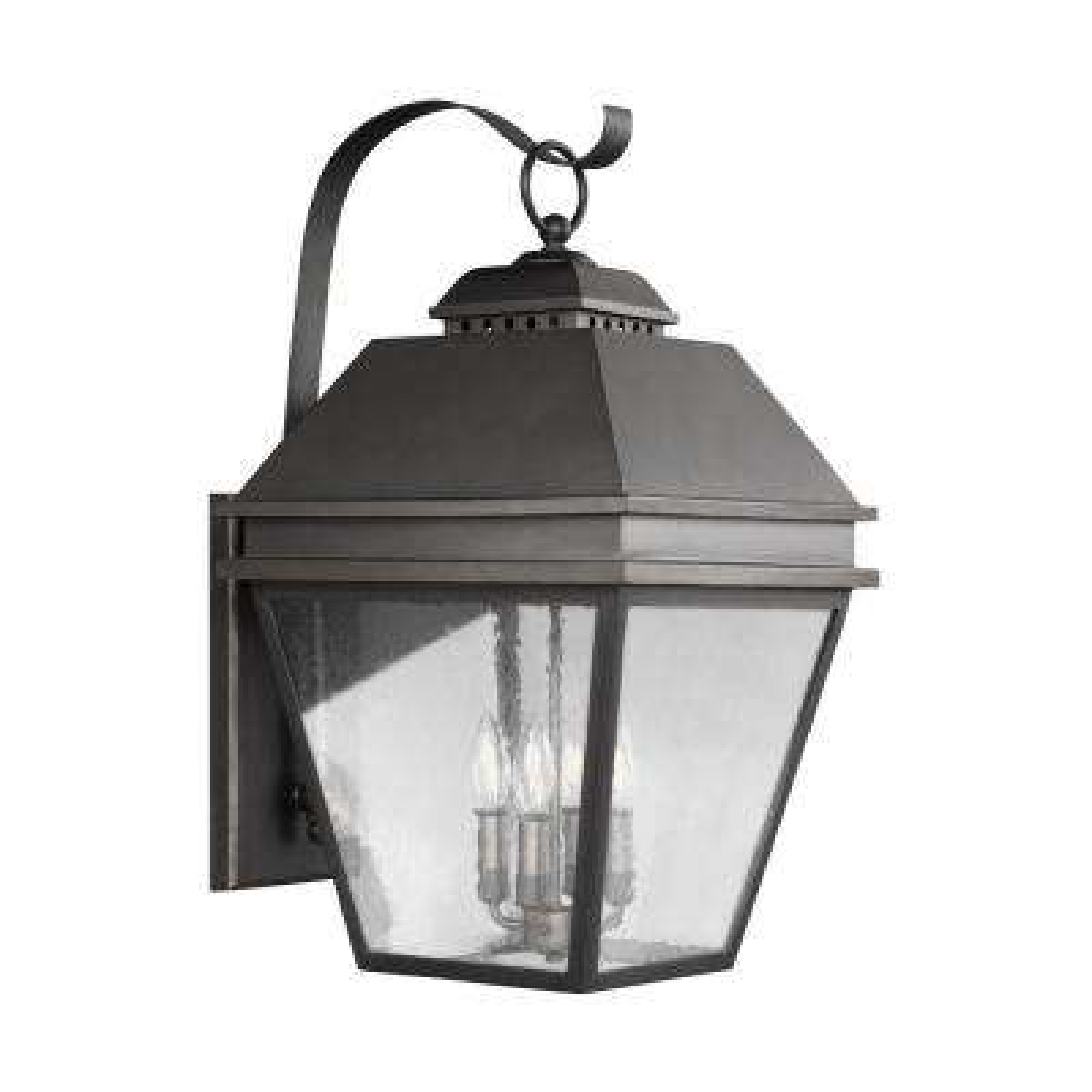 Herald 4-Light Antique Bronze Outdoor 27 in. Wall Lantern Sconce