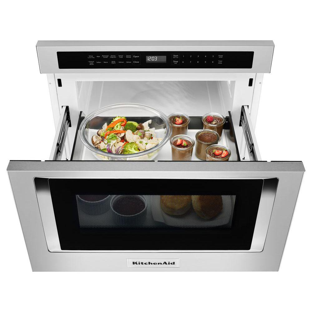 Kitchenaid 1 2 Cu Ft Under Counter Microwave Drawer In Stainless Steel