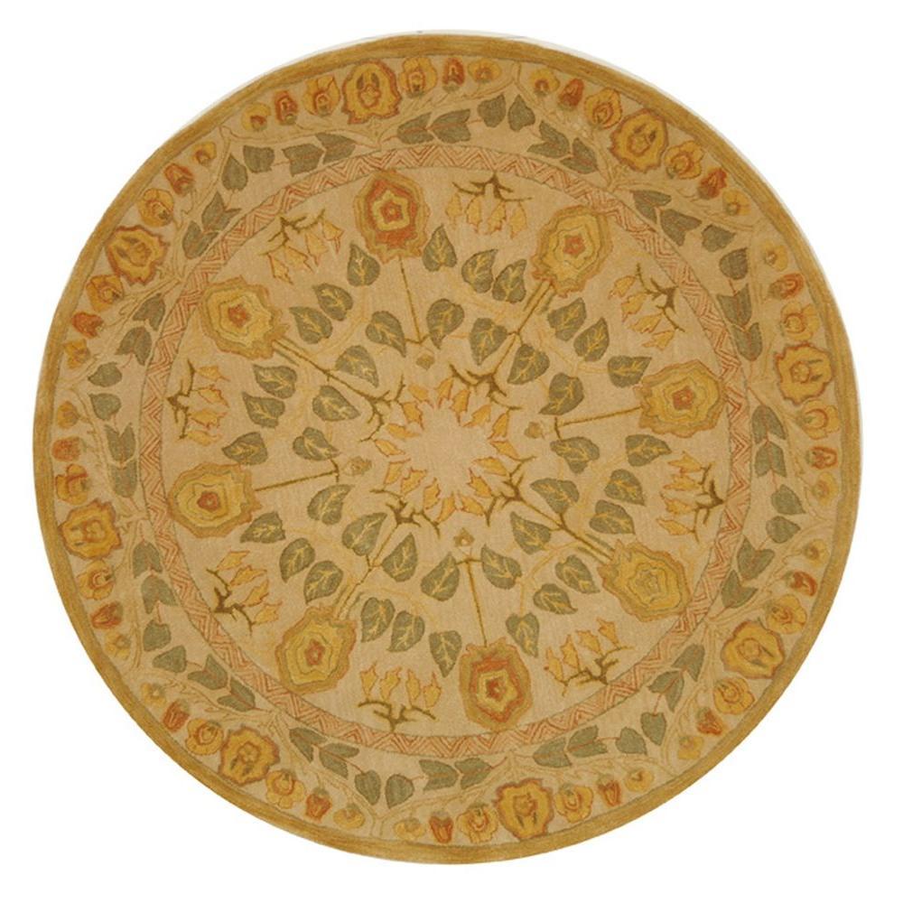 Safavieh Anatolia Ivory 4 ft. x 4 ft. Round Area Rug