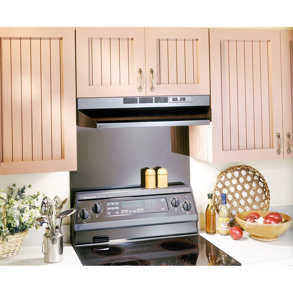 30 in black cabinet range stove exhaust fan oven kitchen hood vent ventilator