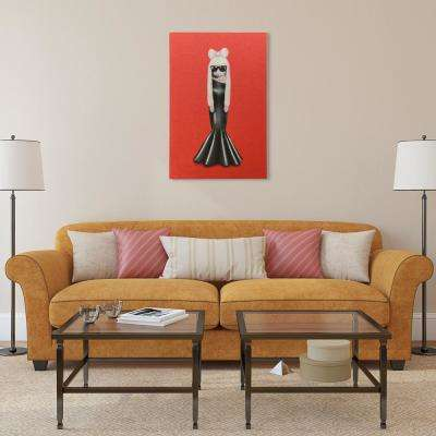 """""""GG Glitter"""" High Resolution Graphic Art Print on Wrapped Canvas Wall Art"""