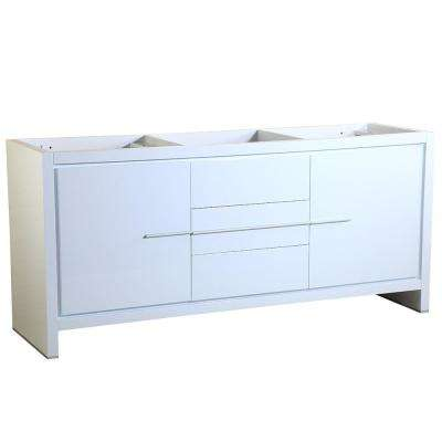 Allier 72 in. Modern Double Sink Bathroom Vanity Cabinet in White