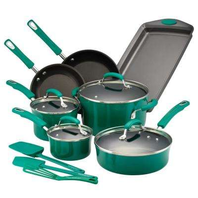 14-Piece Fennel Gradient Cookware Set with Lids