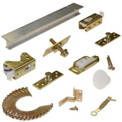 200FD Series 96 in. Track and Hardware Set for 2-Panel Bi-Fold Doors