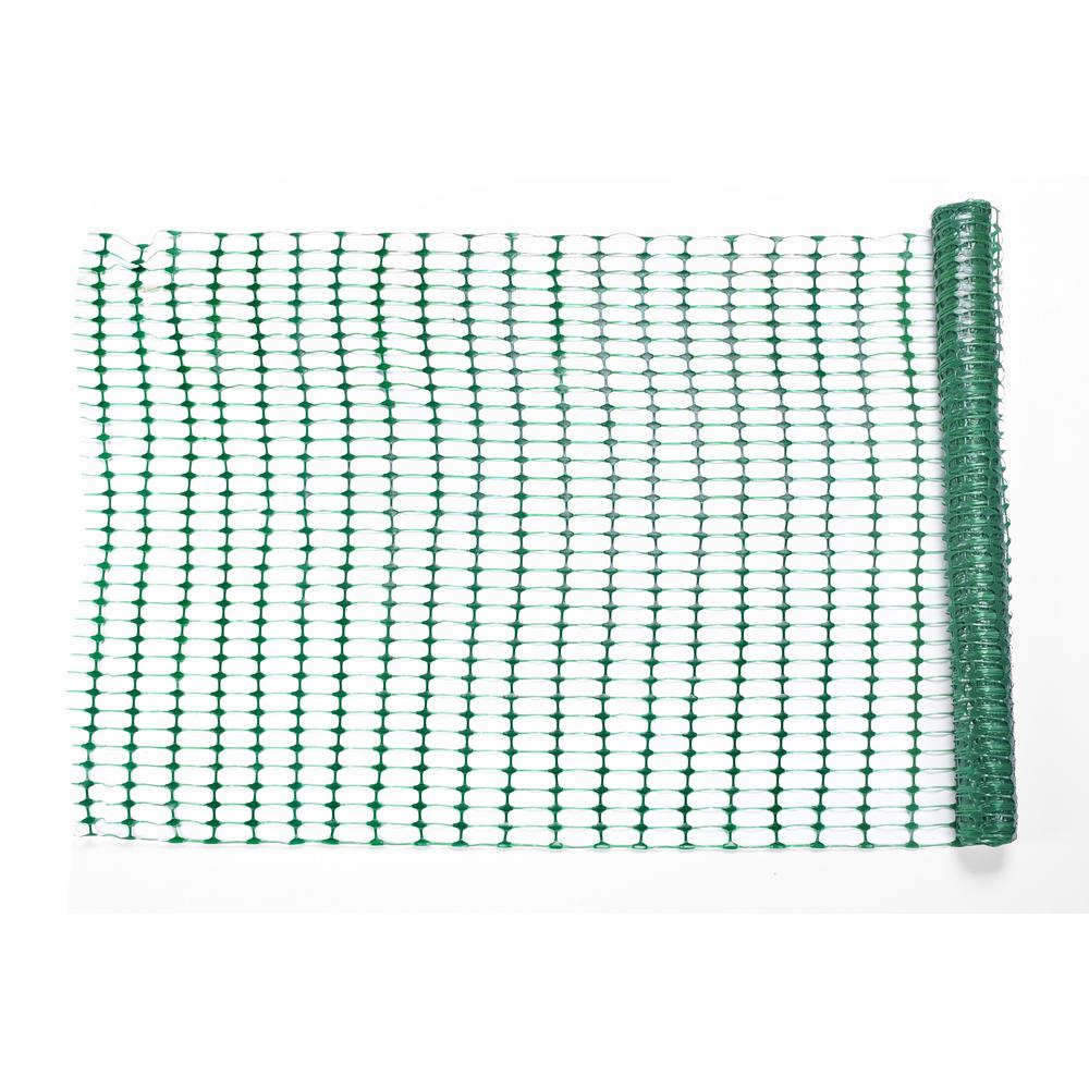 Mutual Industries 4 ft. x 50 ft. Green Warning Barrier Fence