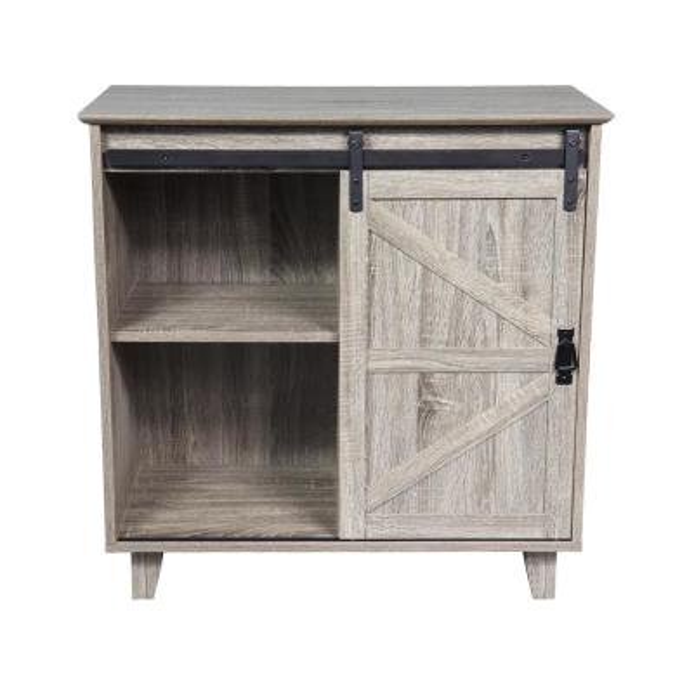 32 in. Medium Wood Sideboard with Sliding Barn Door