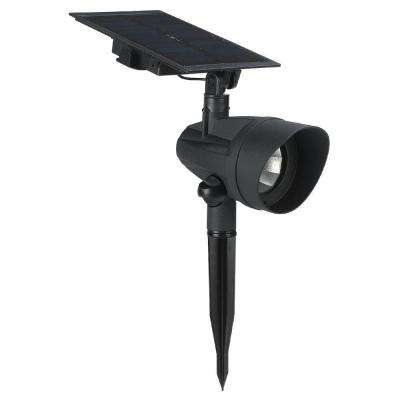 Solar Black Outdoor LED Spot Light