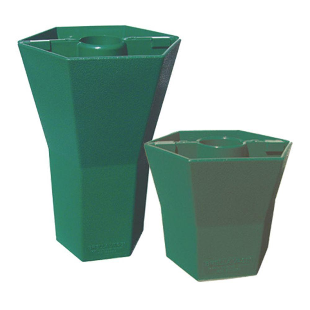 Brella Vase Patio Umbrella Vases in Opaque Garden Green (Duet Pack 5 in. and 10 in.)-DISCONTINUED