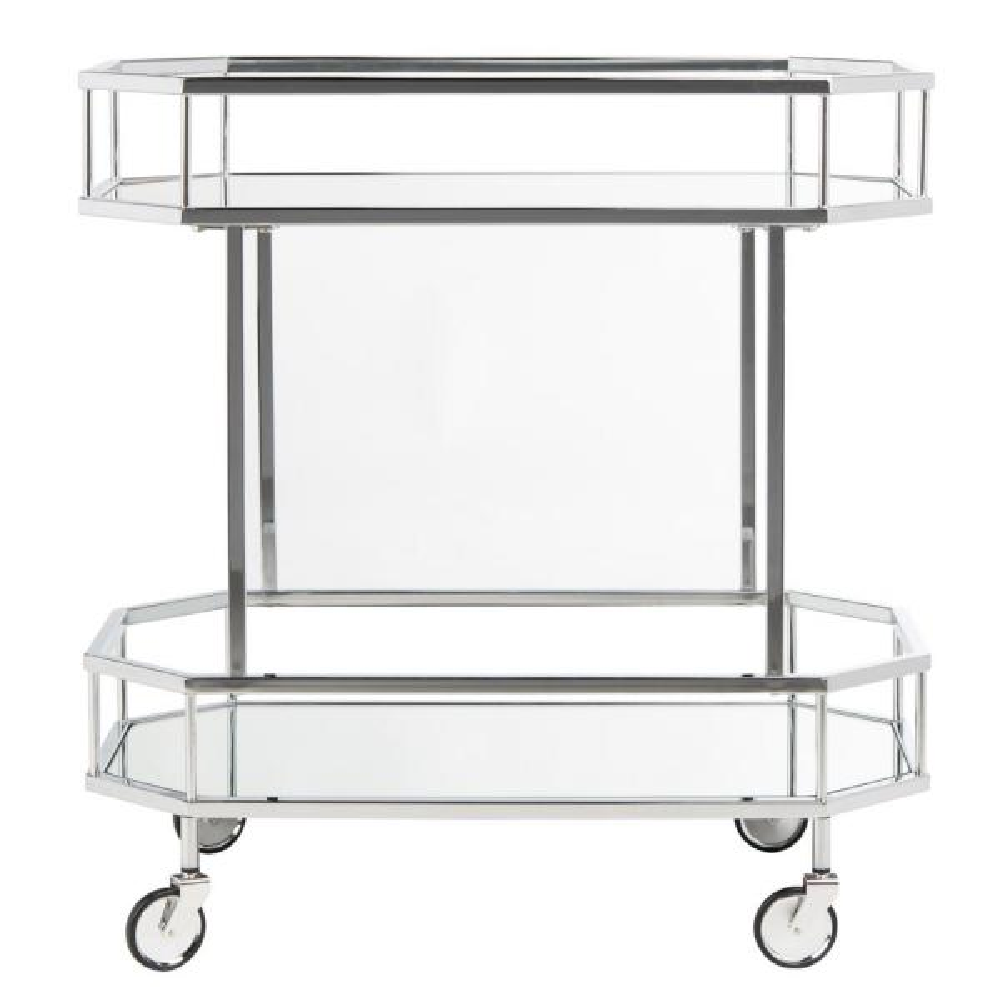Safavieh Silva 2-Tier Silver Bar Cart BCT8004B