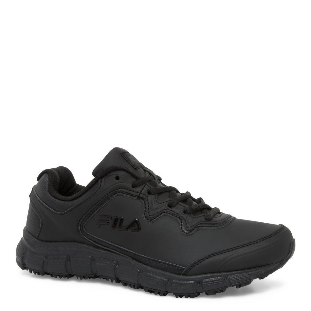 Memory Fresh Start Women Size 6.5 Black Leather/Synthetic Soft Toe Work Shoe