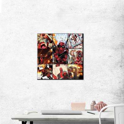 33 in. x 33 in. Deadpool Squares Gallery Wrapped Canvas