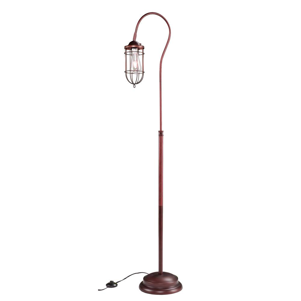 Calene 62 in. Brushed Coppery Bronze Floor Lamp