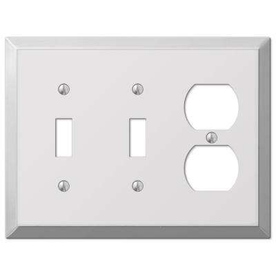 Century 2 Toggle 1 Duplex Wall Plate - Chrome