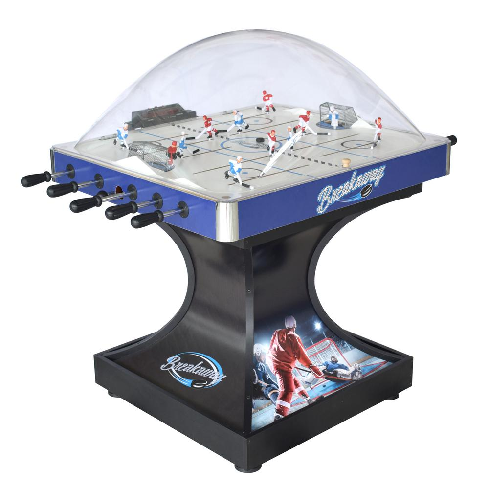 Breakaway Dome Hockey Table with E-Z Grip Handles and LED Scoring