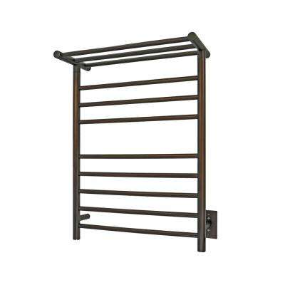 Elevate Huron 8-Bar Electric Stainless Steel Towel Warmer in Bronze