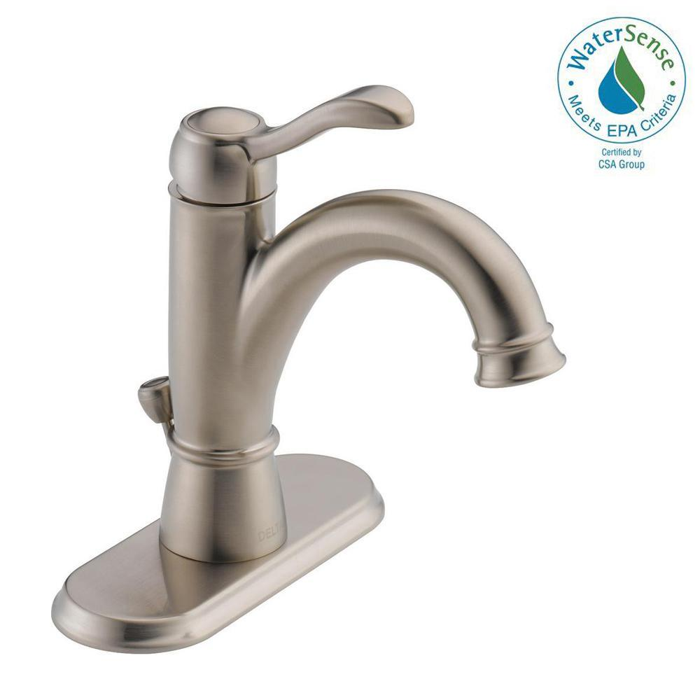 Delta Porter 4 In Centerset Single Handle Bathroom Faucet In Brushed Nickel 15984lf Bn Eco