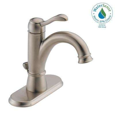 Porter 4 in. Centerset Single-Handle Bathroom Faucet in Brushed Nickel