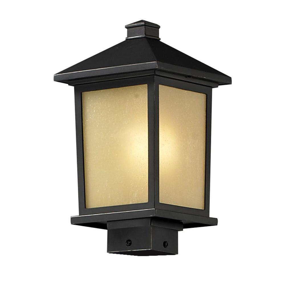 Filament Design Lawrence 1-Light Outdoor Oil-Rubbed Bronze Incandescent Post Light