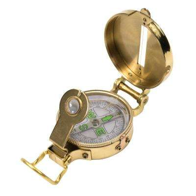 Lensatic Compass with Liquid Interior Brass