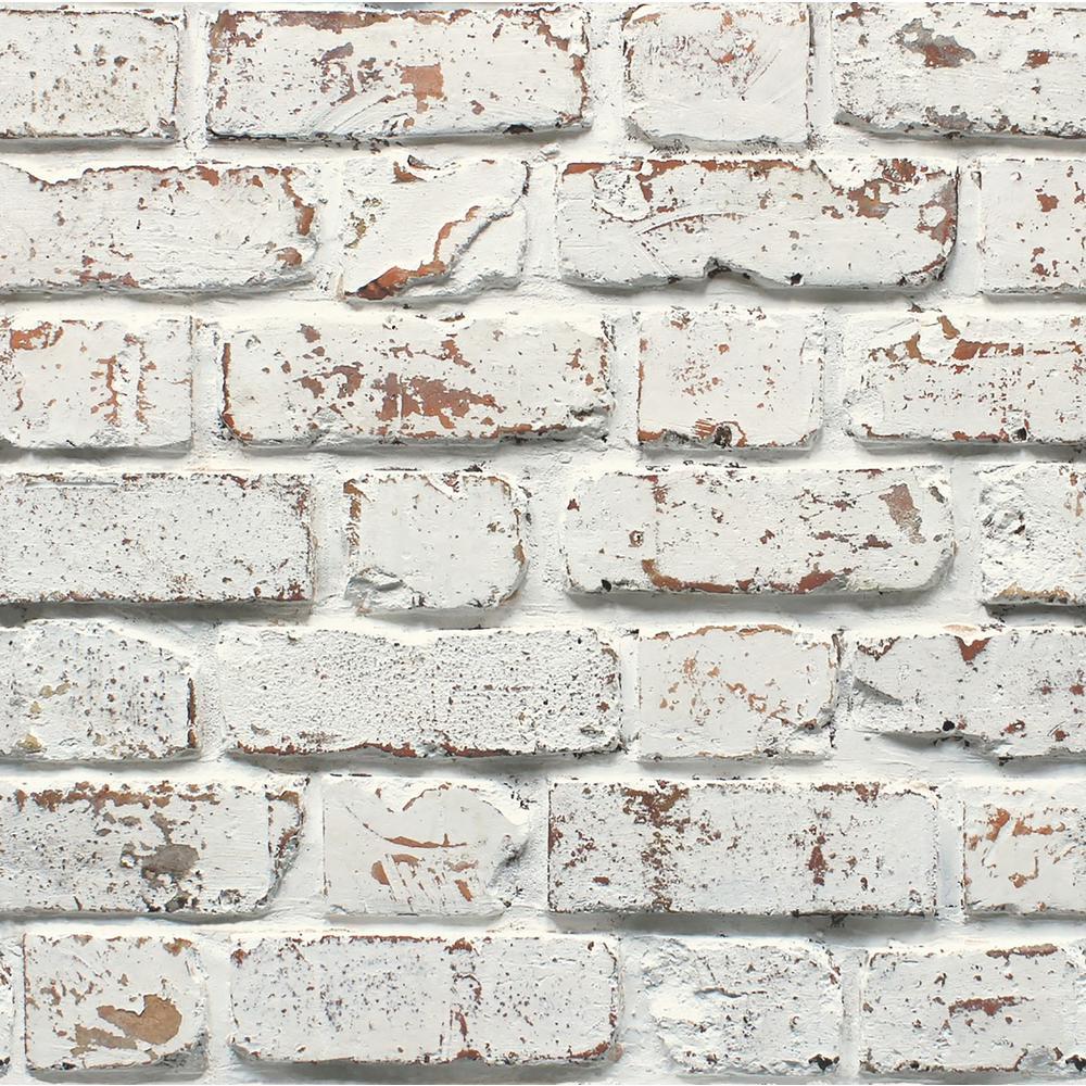 Fine Decor White Rustic Brick Wallpaper