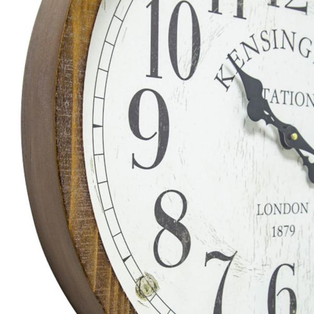 Yosemite Home Decor Kensington Station Pocket Watch Style Wall Clock 5140016 The Home Depot