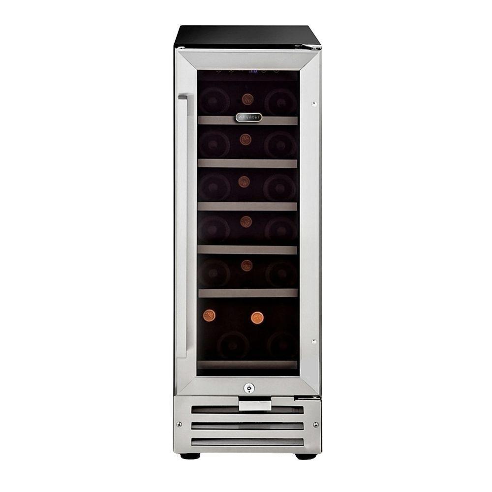 18-Bottle Built-In Wine Refrigerator in Stainless Steel