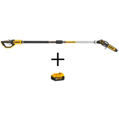 8 in. 20V MAX Cordless Pole Saw (Tool Only) with Bonus Lithium-Ion Premium (1) 5.0Ah Battery Pack Included
