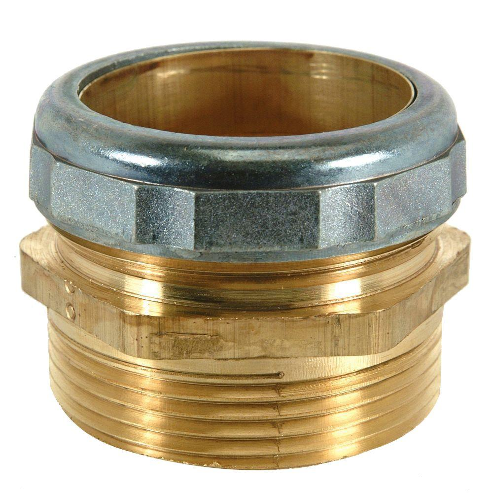 BrassCraft 1-1/2 in. O.D. Comp x 1-1/2 in. MIP (1-1/2 in. I.D. Female Sweat) Brass Waste Connector with Die Cast Nut in Chrome