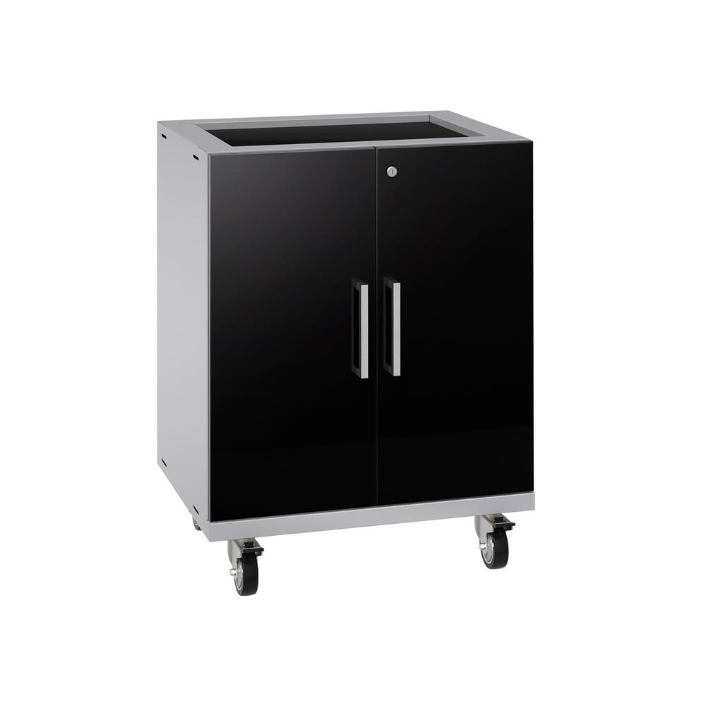 NewAge Products Performance Plus 2.0 28 in. W x 35.5 in. H x 22 in. D Steel Garage Freestanding Base Cabinet in Black