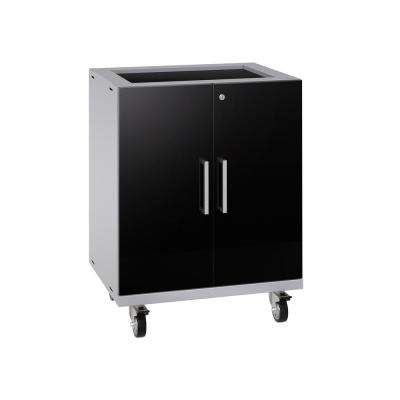 Performance Plus 2.0 32.25 in. H x 28 in. W x 22 in. D Steel Garage Freestanding Base Cabinet Set in Black