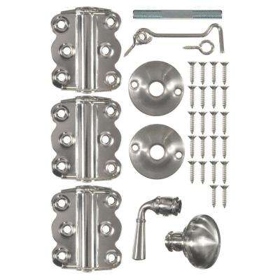 Vinyl Screen Door Kit in Satin Nickel