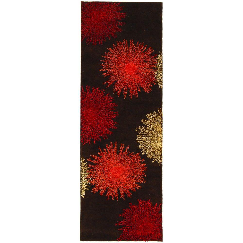 Soho Brown/Assorted Wool 2 ft. 6 in. x 6 ft. Runner