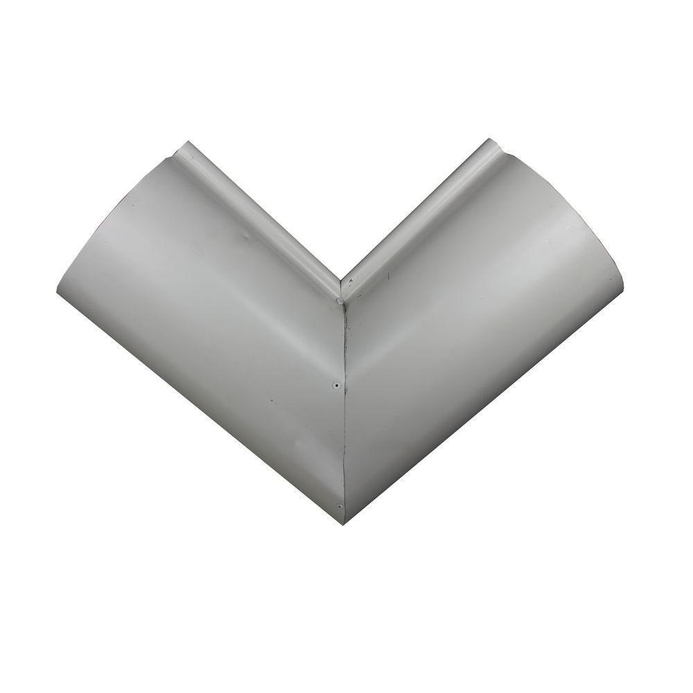 Spectra Metals 6 In Half Round Linen Aluminum Inside
